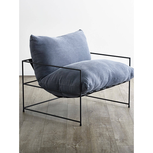Occasional Chair - Indi Denim Blue