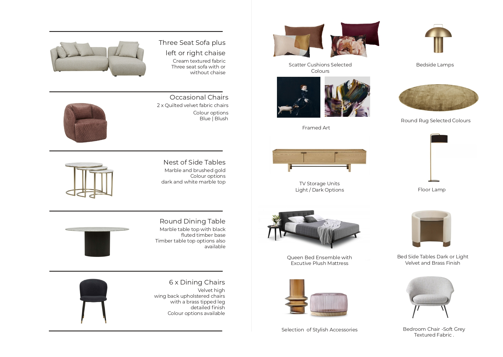 Furnish My Apartment Promenade Furniture Package